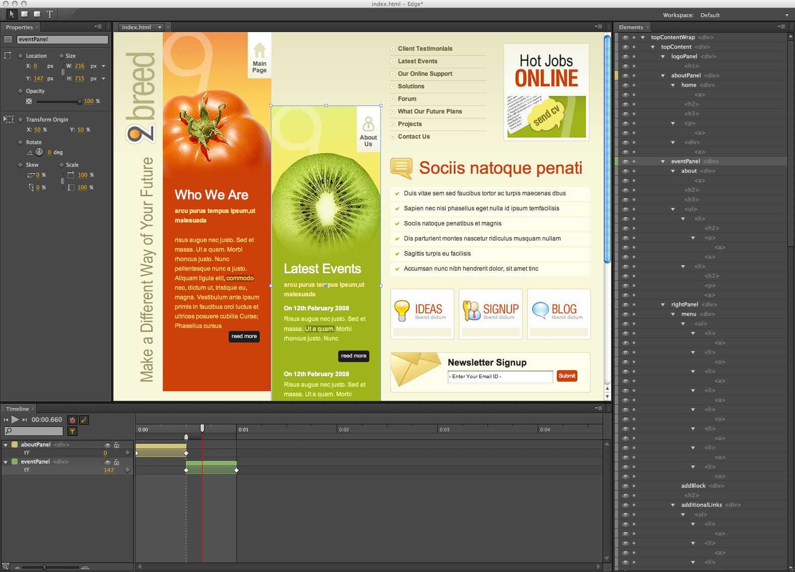 Adobe Releases Free Preview Version Of Edge An Html5 Gui Based Tool Designfreebies