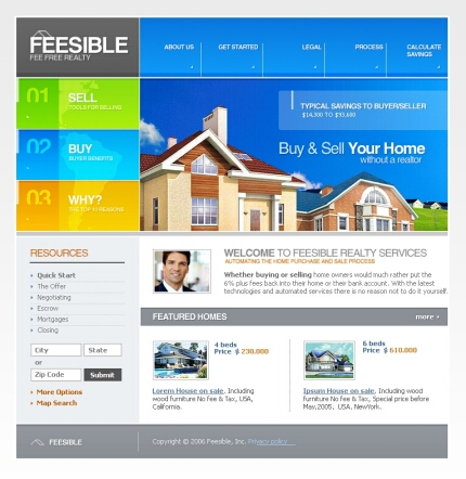 Real Estate Websites on Real Estate Template