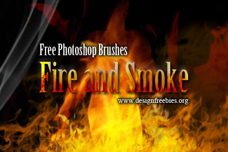 Free Photoshop Brushes: Fire and Smoke