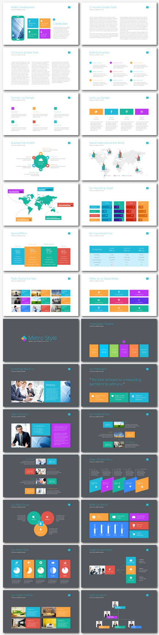 Free PowerPoint templates collection no. 10