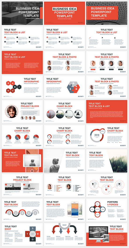 Collection of free beautiful and creative powerpoint templates business idea free powerpoint template 31 slides pronofoot35fo Gallery