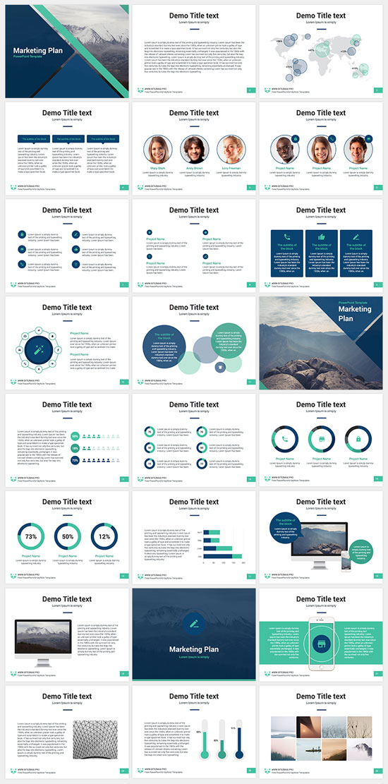 Free PowerPoint templates collection no. 4