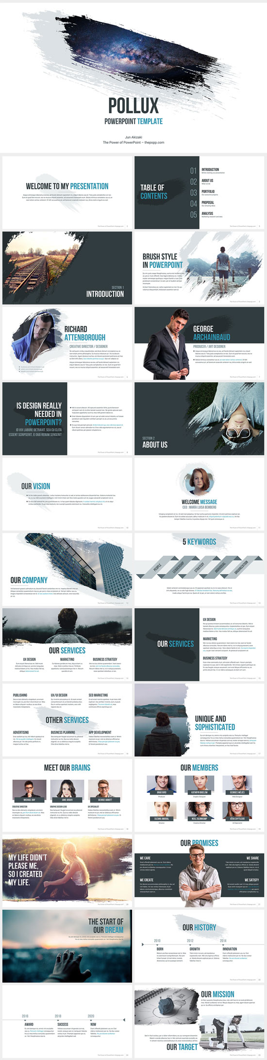 Free PowerPoint templates collection no. 8