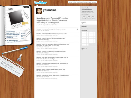 Free PSD Twitter Background Template Wood Designs – 12.78MB