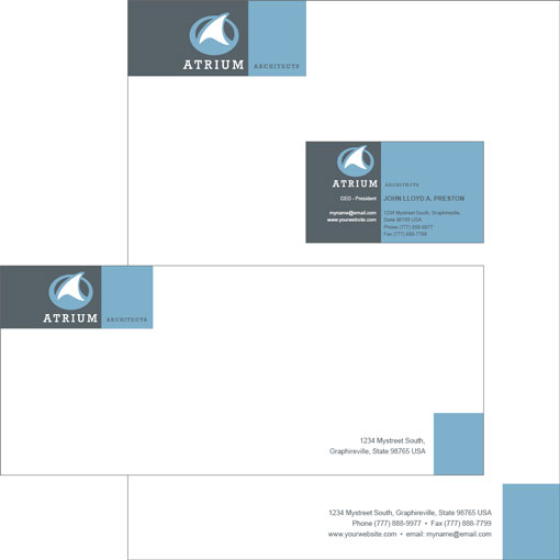 Free Indesign Templates Business Cards Letterheads And Envelopes