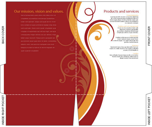 free brochure templates illustrator - free illustrator templates company folder brochures