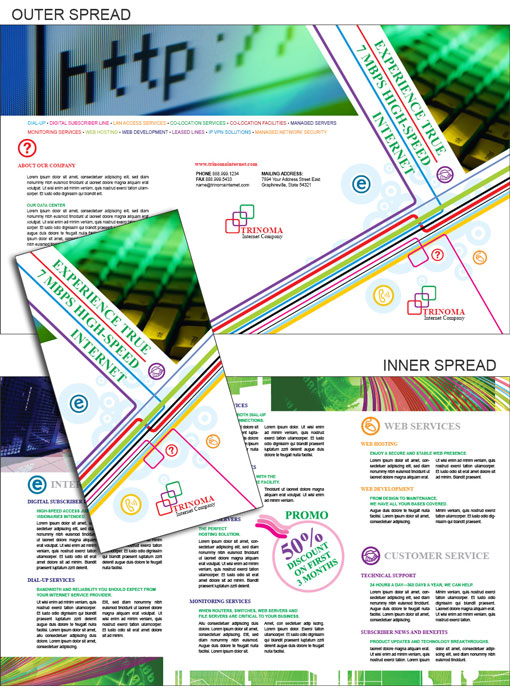 Free indesign templates technology company brochures for Brochure template indesign free download