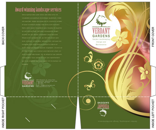 Free illustrator templates company folder brochures for Illustrator template brochure