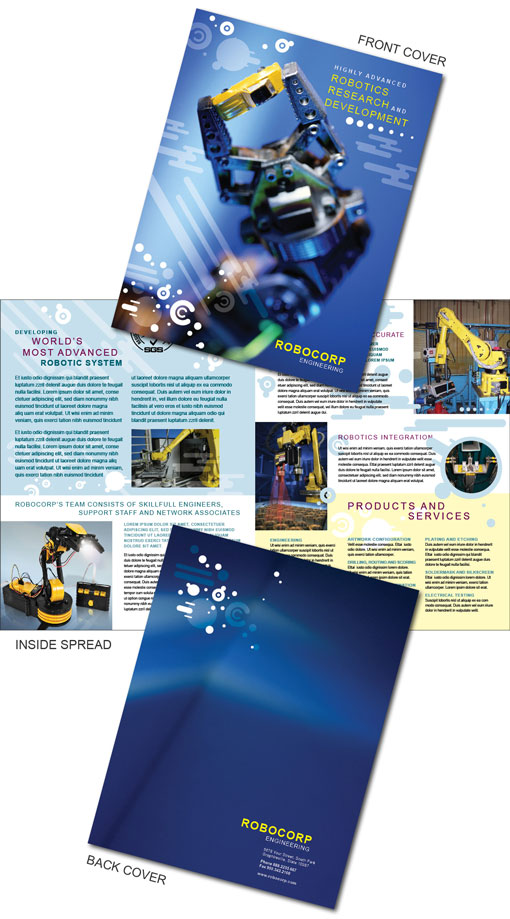 Free indesign templates technology company brochures for Free brochure templates for indesign