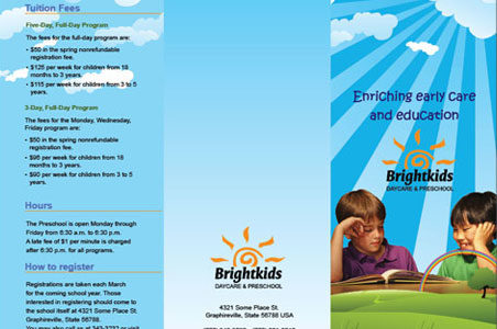 Daycare Preschool and Health and Fitness Center Brochures