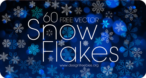 Free Christmas Snow Flakes Vector