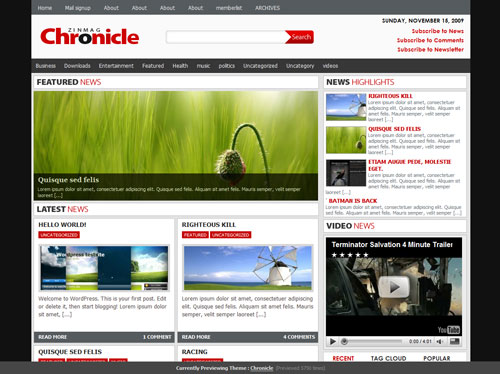 free-chronicle-wordpress-theme