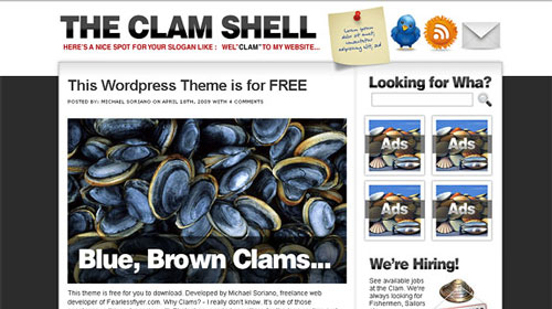 free-clam-shell-wordpress-theme