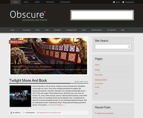 free-obscure-wordpress-theme