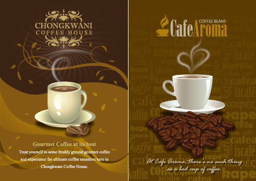 Free Illustrator Templates: Vector Coffee Designs