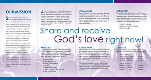 Free indesign church brochure template inside