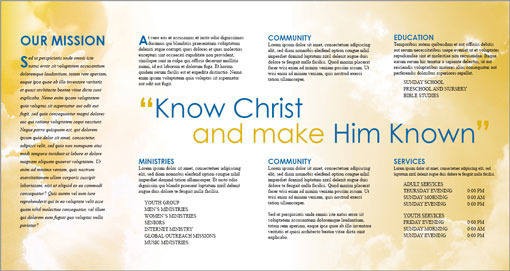 church brochure templates free free indesign templates christian church and travel