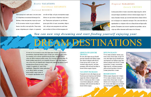 Free indesign templates christian church and travel for Travel agency brochure template