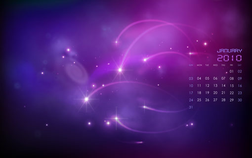 January 2010 Calendar Desktop Wallpapers – Celestial New Year