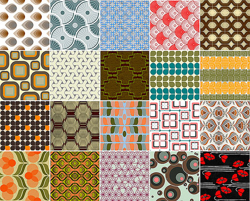 13 Back To The 70 S Set Of 20 Retro Patterns