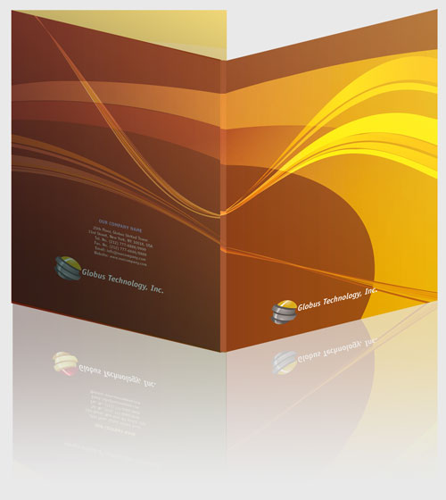 free indesign templates presentation folders 2 With presentation folder template indesign
