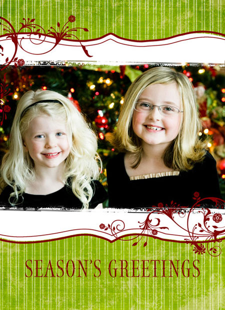 free holiday cards and referral cards photoshop templates from ew