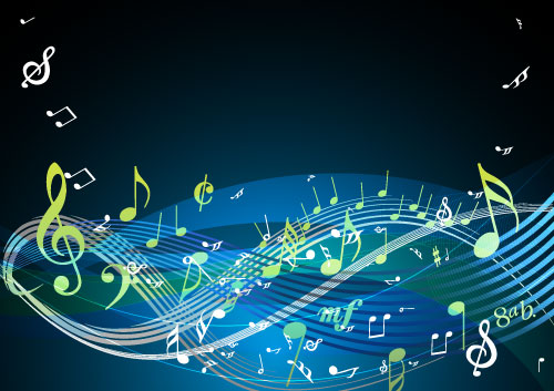 Free Vectors: More Colorful Musical Notes