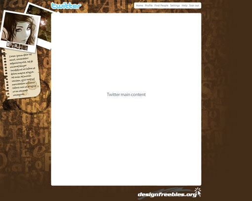 Free twitter background photoshop psd templates typographic typographic grunge twitter background no 1 pronofoot35fo Images
