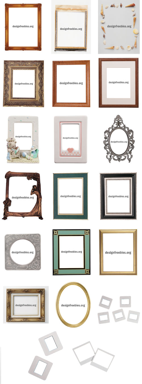 20 Free Hi-res Border Photo Frames with Photoshop Clipping Path