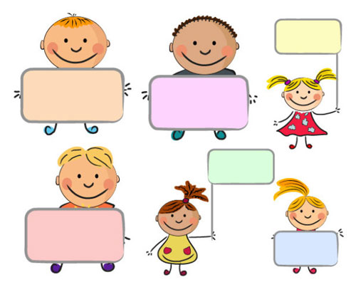 Free playful children vector graphics for your kiddie themed designs