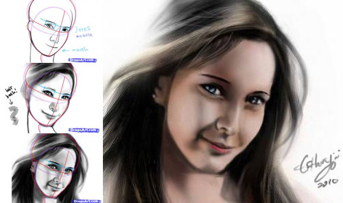 How to draw the human face 13