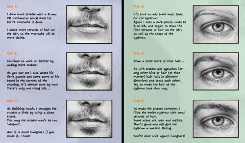 How to draw the human face 6