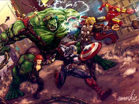 The Avengers 2012 movie artwork 9