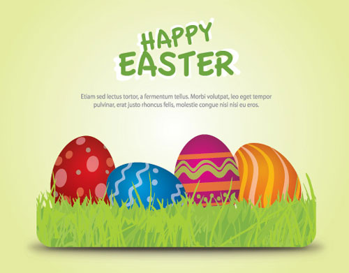 2012 Free Easter Vector 1