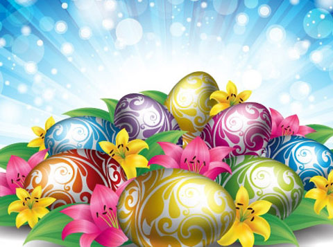 2012 Free Easter Vector 2