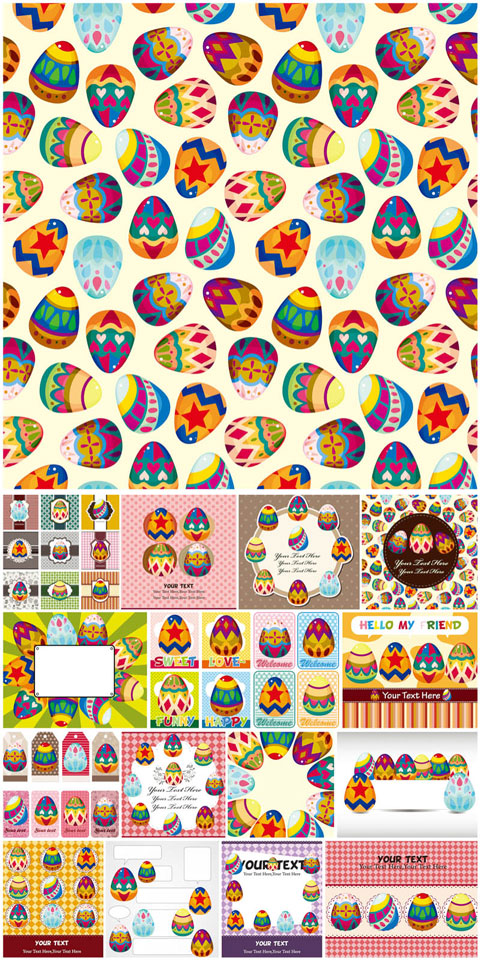 2012 Free Easter Vector 6