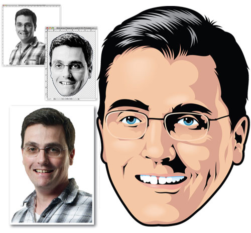 Vector portait tutorials using Adobe Illustrator 7
