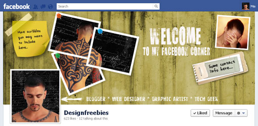 Free Facebook timeline cover psd template design 1