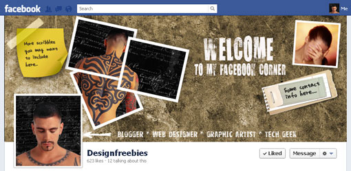 Free Facebook timeline cover psd template design 2