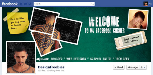 Free Facebook timeline cover psd template design 3