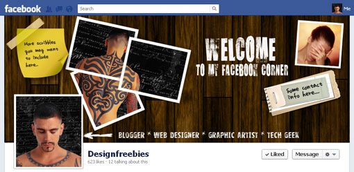 Free Facebook timeline cover psd template design 4