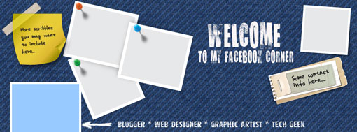 Free Facebook timeline cover psd template blank