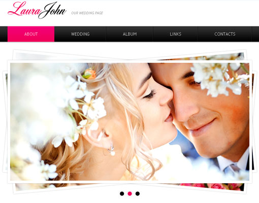Free wedding website template design 1