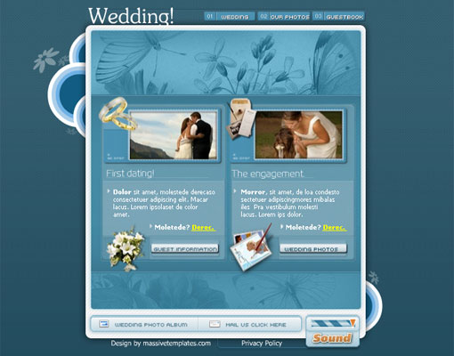 Free wedding website template design 10