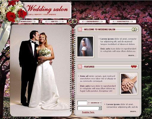 Free wedding website template design 14