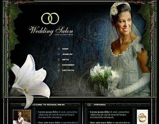 Free wedding website template design 15