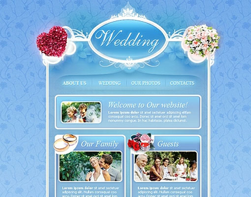Free wedding website template design 16