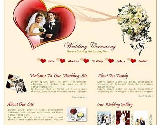 Free wedding website template 17