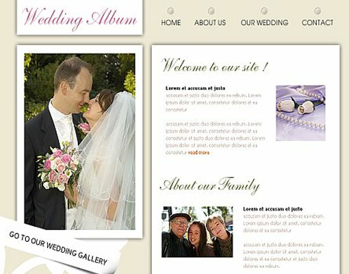 Free wedding website template design 18