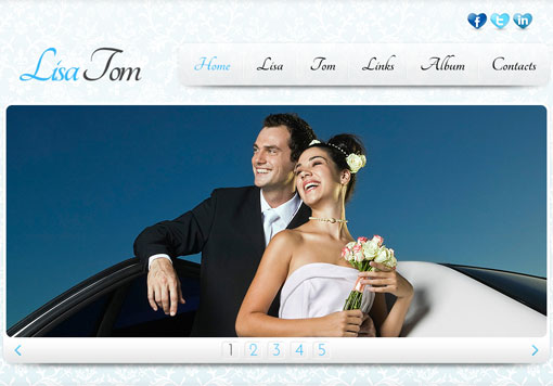 Free wedding website template design 2